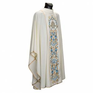 Chasubles: Marian chasuble with embroidered orphrey