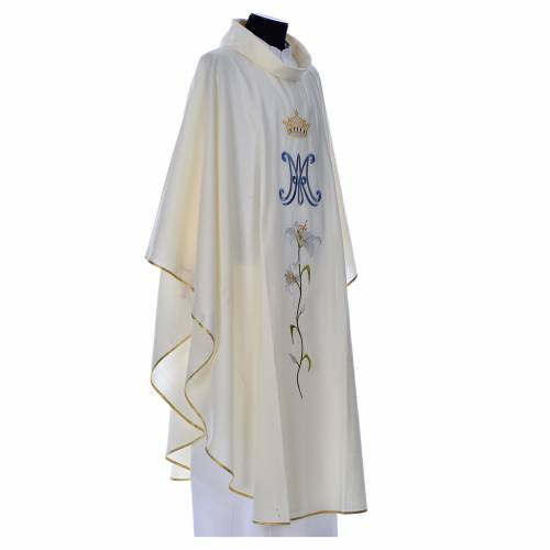Marian chasuble in pure wool s2
