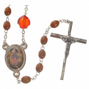 Devotional rosaries: Mary Untier of Knots rosary, natural wood