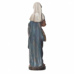 Mary with baby, statue in patinated Valgardena wood, old antique s2