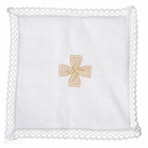 Mass linens with golden cross, 100% linen s1