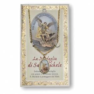 Medaglie: Medaglia Catenina Cartoncino San Michele Arcangelo Preghiera ITA