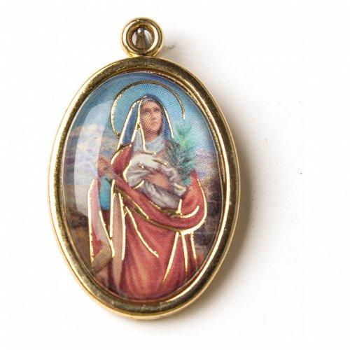 Medaglia Dorata con immagine Resinata Sant'Agata s1