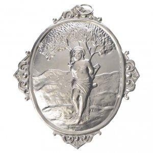 Medaglioni per confraternite: Medaglione per confraternite San Sebastiano metallo