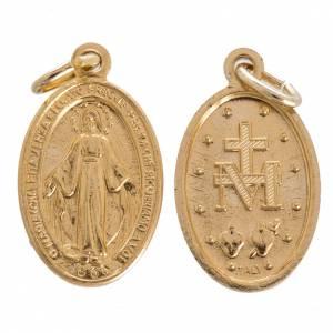 Medaillen: Medaille Wundertätige Madonna Goldaluminium 12 mm