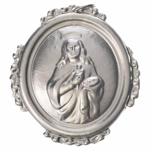 Médaillon de confrérie Sainte Lucie laiton s1