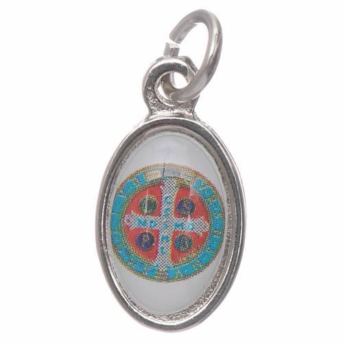 Medalla San Benito metal niquelado 1,5cm s2