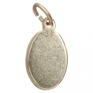 Medalla San Cristóbal metal dorado y resina 1,5x1cm s2