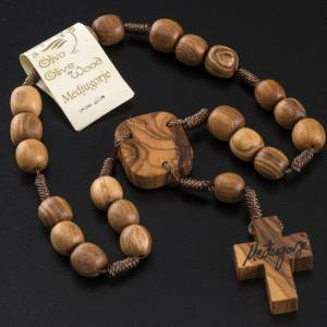 Medjugorje Peace chaplet in olive wood s5