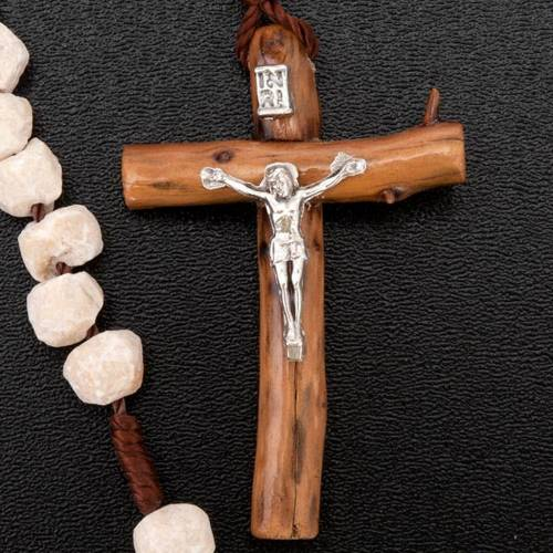 Medjugorje rosary, stone wood and string s4