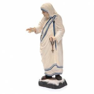 Mère Teresa de Calcutta en bois peint Valgardena chapelet s2