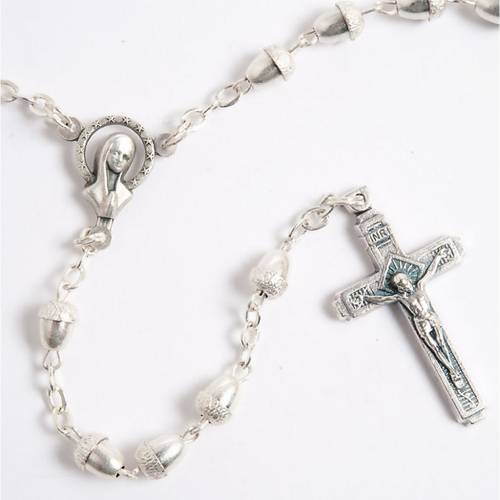 Metal acorn-beads rosary s2