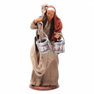 Milk seller with wooden buckets for Neapolitan Nativity, 14cm s1