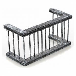 Mini balustrade balcon crèche Napolitaine 11,5x5x6 cm s2