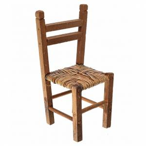 Mini chaise paillée pour crèche, 9,5x4x4cm s1