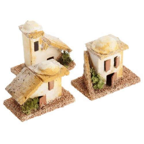 Mini maisons arabes pour crèche Noel s3