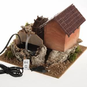 Mini moulin à eau et maison crèche Noel 24x29x29 s3