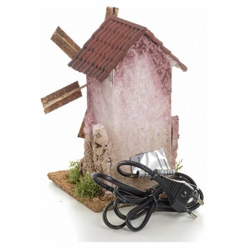 Mini moulin à vent électrique 18x10x10 cm s3