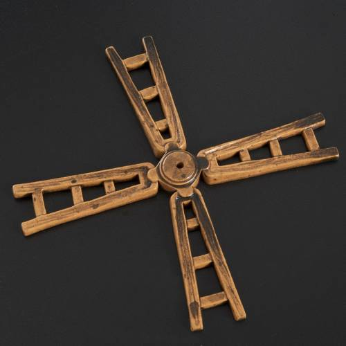 Mini pale moulin à vent 14 cm crèche s2