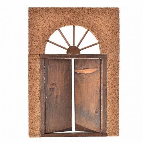 Mini porte en bois mur en liège pour crèche, 21x15cm s2