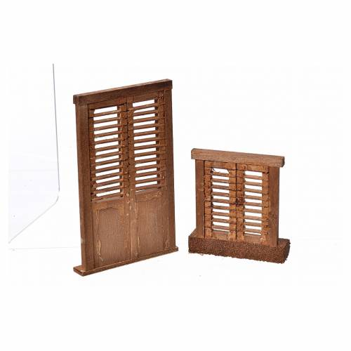 Mini stores volet pour crèche 7x6 et 10,5x7cm s2