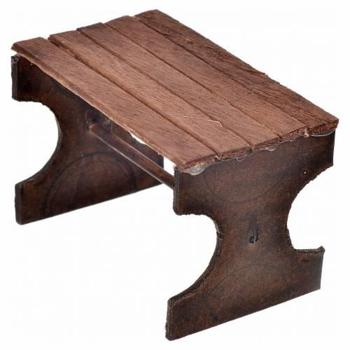 Mini table en bois crèche Napolitaine 5x7x4,5 cm s2