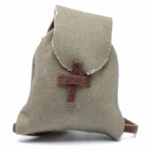 Home accessories miniatures: Miniature nativity scene rucksack 4x3,5 cm