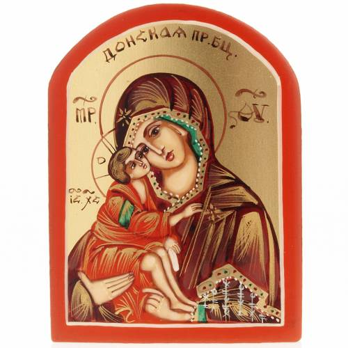Miniature Russian icon, Our Lady of the Don 6x9cm s1