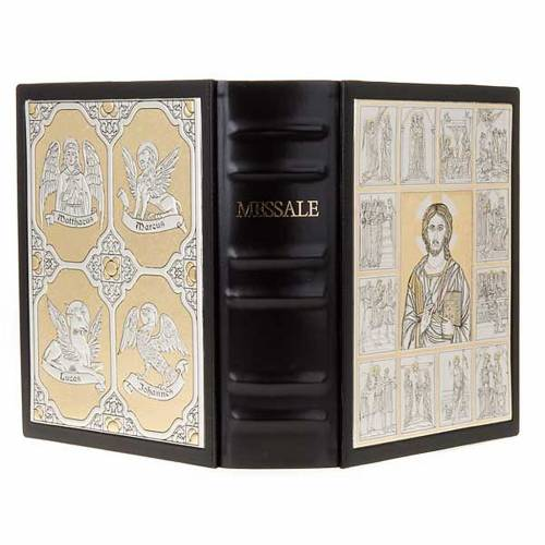 Missal bookcase with double plaque of Christ Pantocrator s1