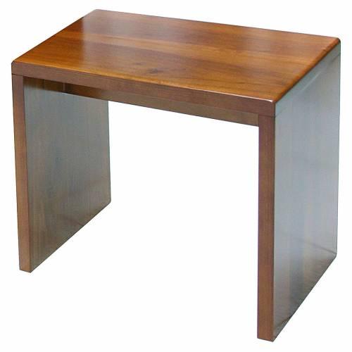 Modern stool walnut wood s1