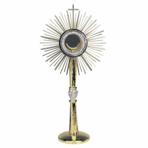 Monstrance, polished gold-plated brass s1