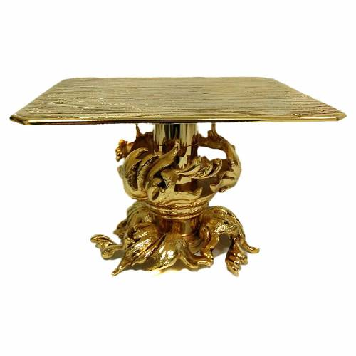 Monstrance stand 18cm gold-plated brass s1