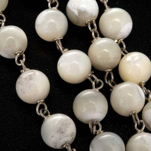 Mother of pearl rosary beads, round, 7mm s5