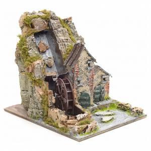 Moulin à eau de montagne pour crèche s2