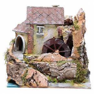 Moulins en miniature: Moulin à eau pour crèche 20x20x15 cm