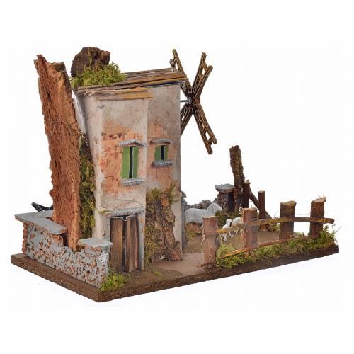 Moulin à vent en miniature 33x18x25cm s3
