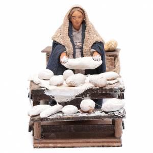 Neapolitan Nativity Scene: Moving woman kneading 10 cm for Neapolitan nativity scene