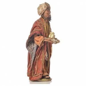Mulatto Wise Man in terracotta, 13cm by Angela Tripi s4
