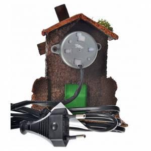 Mulini per Presepi: Mulino a vento legno e sughero 12x10x6 cm