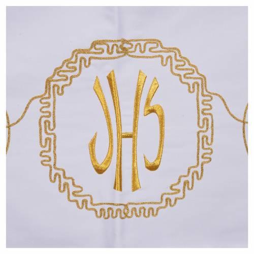 Nappe d'autel décor doré épis et symbole IHS s5
