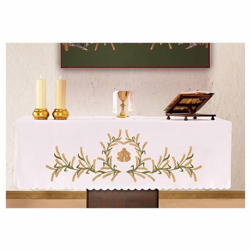 Nappe pour autel 165x300 cm épis de blé verts et dorés 1