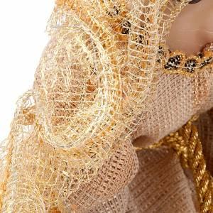 Natividad color beige dorado de resina 33cm s2