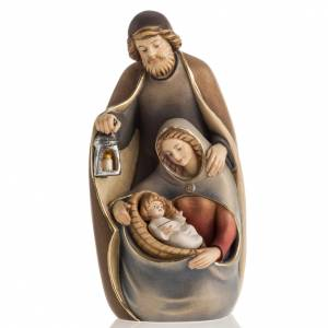 Natividad de madera pintada a mano Val Gardena s1