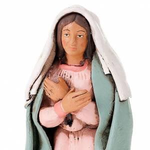 Natività terracotta dipinta a mano 18 cm s4
