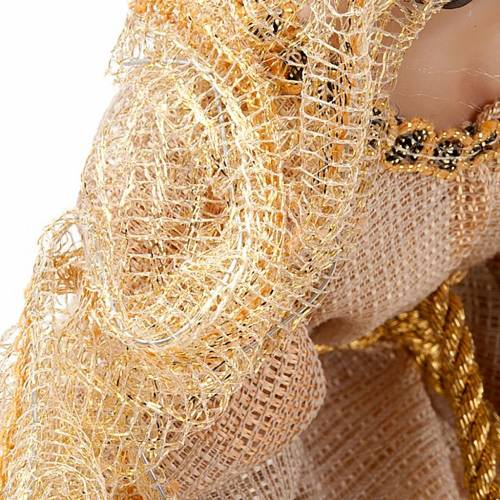 Natività beige oro cm 33 resina 2