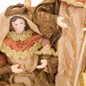 Nativité,20 cm en laiton et or s2