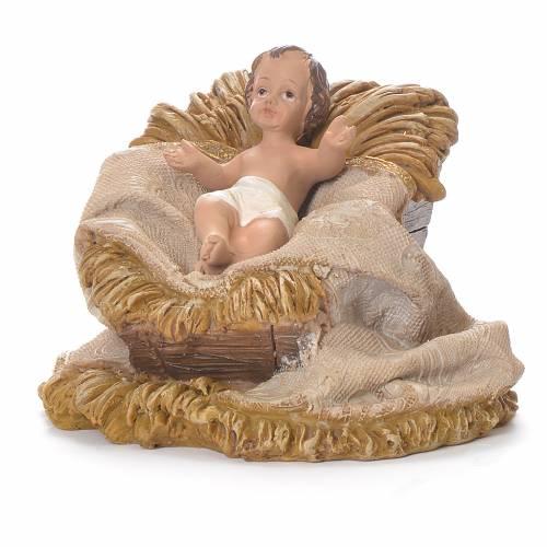 Nativité 33 cm résine vêtements beiges s4