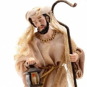 Nativité beige or 33 cm résine s3