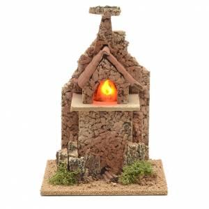 Nativity accessory, electric fire 20x12x12cm s1