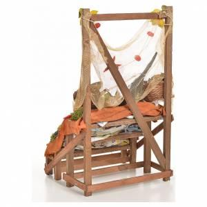 Nativity accessory, fishmonger's stall 20x22x40cm s3